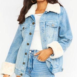 Show me your mumu blue Denver denim jacket